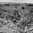 A smashed-up German trench on the Flanders battlefield. - Otago Witness, 31.10.1917.