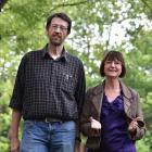 Otago University professor of applied mathematics Jorg Frauendiener (left) and OzGrav programme...