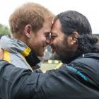 Prince Harry and Willie Apiata VC, mid-hongi at the Invictus Games in Toronto. Photo: NZ Defence...