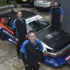 Dunedin driver Chris Henderson (front) and his crew members Aaron Carmichael (left) and Tim...