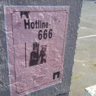Poster for Hotline 666 gig on Vogel St. Photo: James Hall