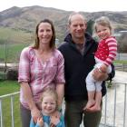 Shingly Creek Station farmers Julie and Tony Kearney with daughters Paige (4) and Tori (2). Sam ...