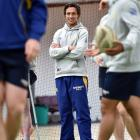 Otago defence coach Lee Allan at Otago training at the Edgar Centre yesterday. PHOTO: PETER MCINTOSH
