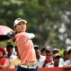 Lydia Ko in action in Malaysia. Photo: Getty Images