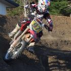 Motocross enthusiast Joel Meikle shows his style on a track at his North Otago home. Photo by...
