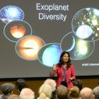 Nasa Kepler mission scientist Dr Natalie Batalha speaks to a large audience about exoplanets at ...
