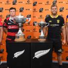The four captains to feature in the Mitre 10 Cup finals (from left) Tasman's Alex Ainley,...