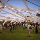 The design concept for what could become of the former Lawrence swimming pool's arches. Photo:...