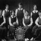 St Hilda's netball team of 1917, holders of the League's shield for the season. Standing (from...