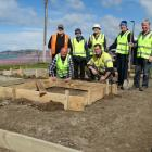 Rotary Club of Dunedin members (standing, from left) Morgan Jopson, Steve Shaw, Graeme Leith,...