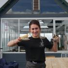 Perc St Clair manager Holly Toki with some of the food available at the new cafe at the Hot Salt...