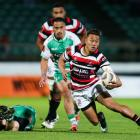 Counties-Manukau's Tim Nanai-Williams makes a break against Manawatu last night. Photo: Getty Images