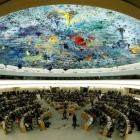 Overview of the United Nations Human Rights Council is seen in Geneva, Switzerland. Photo: Reuters