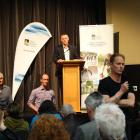 Guest speakers (from left) freshwater scientist Dr Marc Schallenberg and Landcare researcher Dr...