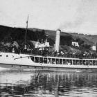 The ferry steamer Waireka ashore near Portobello. She was unable to make headway against the...