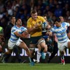 Argentina were in the game at 13-13 at halftime and level on 20-20 up to the hour but were down a...