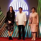 NZ Prime Minister Jacinda Ardern, Philippine President Rodrigo Duterte and his partner Cielito...