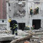 Rescue workers work at the site of a blast in Ningbo. Photo: Reuters