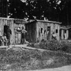 Huts occupied by New Zealanders on forestry work in France. — Otago Witness, 7.11.1917.