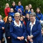 Retiring leaders of the West Harbour Girls' Brigade company Jennifer Box (left) and Glenis Whipp...