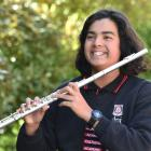 Dunedin North Intermediate pupil Jayden Jesudhass is one of 12 young orchestral musicians...