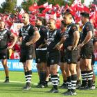 Kiwis players during their loss to Tonga on Saturday. Photo: Getty Images