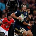 Luke Whitelock in action for the Highlanders this year. Photo: Getty Images