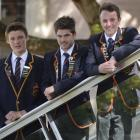 Making a difference . . . John McGlashan College pupils (from left) Toby Hope (17), Jacob Cotton ...