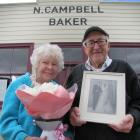 Noeline and Murray Michelle, of Lawrence, celebrate their 60th wedding anniversary outside the...