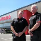 New World Alexandra owner Kevin Ryan (right) and his son, part-owner and store manager Shane Ryan...