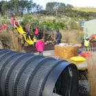The children's play area at Orokonui. Photos: Claire Freeman