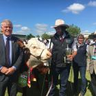 Canterbury A&P Association president Peter Gilbert (left), of Ashburton, and Royal...
