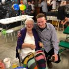Royce Bisset  and his grandmother Elizabeth 'Betty' Bisset celebrate his 21st birthday. Photo:...