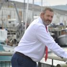 New harbourmaster Steve Rushbrook at the Steamer Basin. Photo: Gerard O'Brien