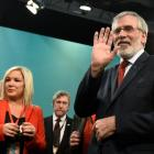Sinn Fein President Gerry Adams (right) is stepping down. Photo: Reuters