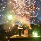 Fireworks light up Unity Park, Dunedin.