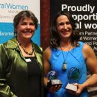 Rural Women New Zealand national president Fiona Gower (left) and Tannacrieff Wines and DC Wines...