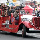 Jeff Woodford takes people for a ride in the Dunedin Fire Engines Restoration Society's 1935 Ford...