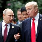 The comments came after Trump told reporters that he had spoken with Putin again over allegations...