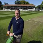 Mud no more ... DVML head of turf and development Mike Davies admires his handiwork at the...