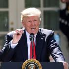 US President Donald Trump explains his reasons for pulling the US out of the Paris Climate Change...