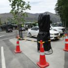 Wanaka's new electric vehicle fast-charge station on Ardmore St  waits to be unwrapped and become...
