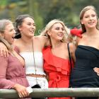 From left Emily Rades (19), Isla Huffadine (19), Millie Anderson (19) and Olivia Barber (18), all...