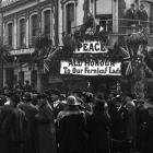 The scene in the Octagon during the Dunedin Peace Day parade, Saturday, July 19, 1919. A still...