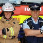 Graeme Ferguson lives a double life as a senior constable and Balclutha's chief fire officer....