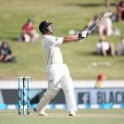 Colin de Grandhomme of New Zealand hits a six during day one of the second Test match between New...