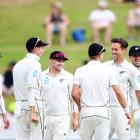 Trent Boult celebrates the wicket of Sunil Ambris. Photo: Getty Images
