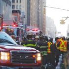 Emergency services at the scene in New York. Photo Getty
