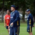 New Highlanders assistant coach Glenn Delaney at training at Logan Park this week. Photo: Linda...