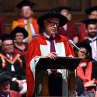 Emeritus Prof Michael Corballis argues the many benefits of basic science during his address....